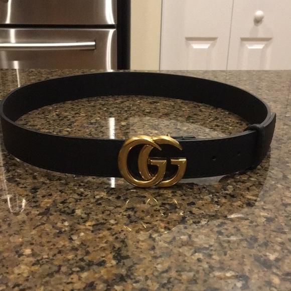 6ecf7fb61 Gucci Accessories | Gg Belt Size Xss Womens Black And Gold | Poshmark
